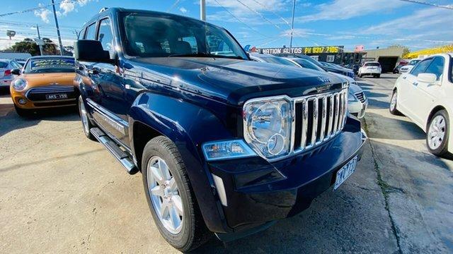 Used Jeep Cherokee KK MY12 Limited Maidstone, 2012 Jeep Cherokee KK MY12 Limited Blue 4 Speed Automatic Wagon