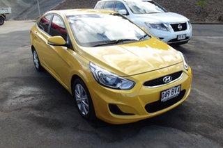 2018 Hyundai Accent RB6 MY19 Sport Yellow 6 Speed Sports Automatic Sedan.