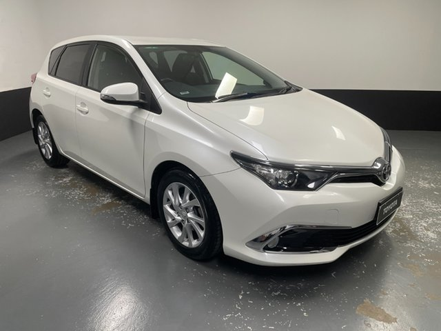 Used Toyota Corolla ZRE182R Ascent Sport S-CVT Cardiff, 2018 Toyota Corolla ZRE182R Ascent Sport S-CVT White 7 Speed Constant Variable Hatchback