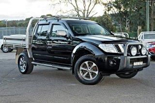 2014 Nissan Navara D40 S6 MY12 ST Black 5 Speed Sports Automatic Utility.