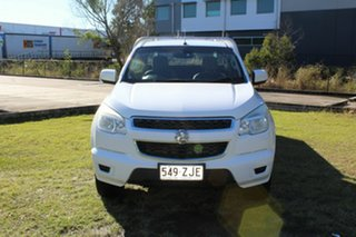 2013 Holden Colorado RG MY13 LX Space Cab White 5 Speed Manual Cab Chassis.
