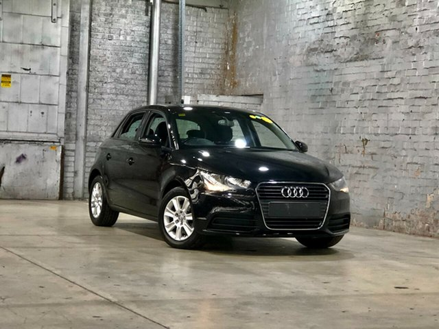 Used Audi A1 8X MY14 Attraction Sportback S Tronic Mile End South, 2013 Audi A1 8X MY14 Attraction Sportback S Tronic Black 7 Speed Sports Automatic Dual Clutch