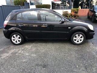 2008 Kia Rio JB MY07 LX Black 5 Speed Manual Hatchback.