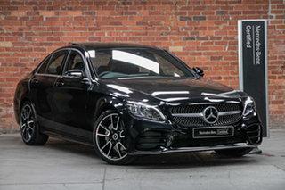 2020 Mercedes-Benz C-Class W205 800+050MY C200 9G-Tronic Obsidian Black Metallic 9 Speed.