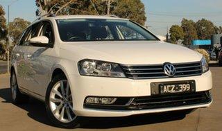 2014 Volkswagen Passat 3C MY15 130 TDI Highline White 6 Speed Direct Shift Wagon.