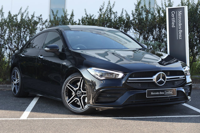 Certified Pre-Owned Mercedes-Benz CLA-Class C118 800+050MY CLA35 AMG SPEEDSHIFT DCT 4MATIC Mulgrave, 2020 Mercedes-Benz CLA-Class C118 800+050MY CLA35 AMG SPEEDSHIFT DCT 4MATIC Cosmos Black 7 Speed