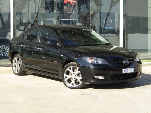 Used Mazda 3 BK1032 SP23 Ravenhall, 2008 Mazda 3 BK1032 SP23 Black 6 Speed Manual Sedan