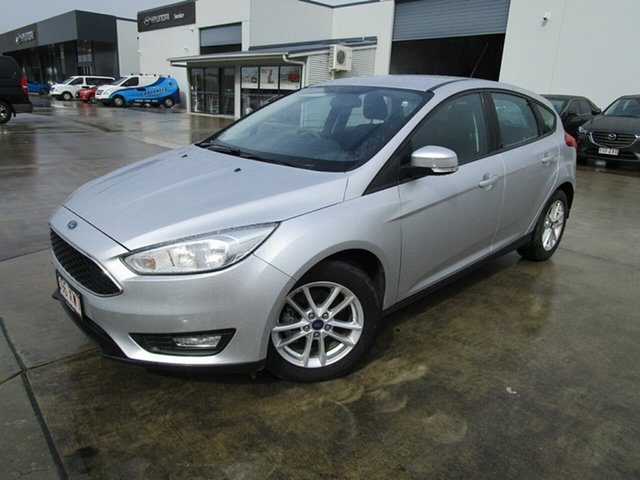Used Ford Focus LZ Trend Caboolture, 2017 Ford Focus LZ Trend Silver 6 Speed Automatic Hatchback