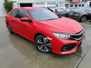 2018 Honda Civic 10th Gen MY18 VTi-L Red 1 Speed Constant Variable Hatchback.