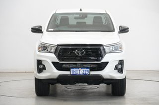 2020 Toyota Hilux GUN126R Rogue Double Cab Pearl White 6 Speed Sports Automatic Utility.
