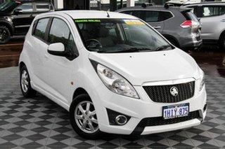 2010 Holden Barina Spark MJ MY11 CD White 5 Speed Manual Hatchback.