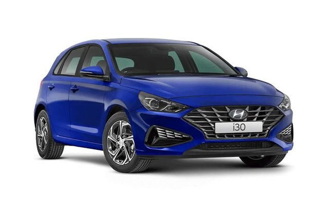 Demo Hyundai i30 PD.V4 MY21 Special Edition Hamilton, 2021 Hyundai i30 PD.V4 MY21 Special Edition Intense Blue 6 Speed Sports Automatic Hatchback