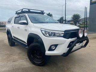 2017 Toyota Hilux GUN126R SR5 Double Cab White/090517 6 Speed Sports Automatic Utility.