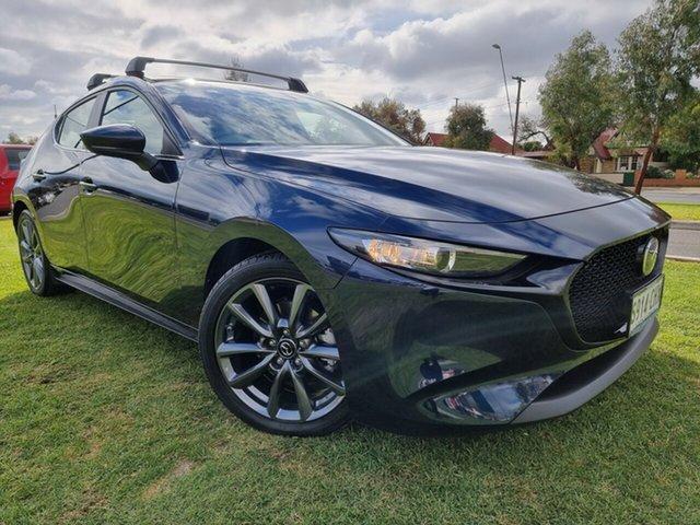 Used Mazda 3 BP2HLA G25 SKYACTIV-Drive Evolve Hindmarsh, 2020 Mazda 3 BP2HLA G25 SKYACTIV-Drive Evolve Deep Crystal Blue 6 Speed Sports Automatic Hatchback