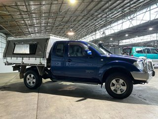 2009 Nissan Navara D40 ST-X King Cab Blue 5 Speed Automatic Cab Chassis.