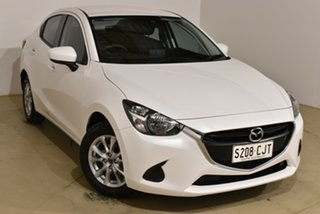 2018 Mazda 2 DL2SAA Maxx SKYACTIV-Drive White 6 Speed Sports Automatic Sedan.