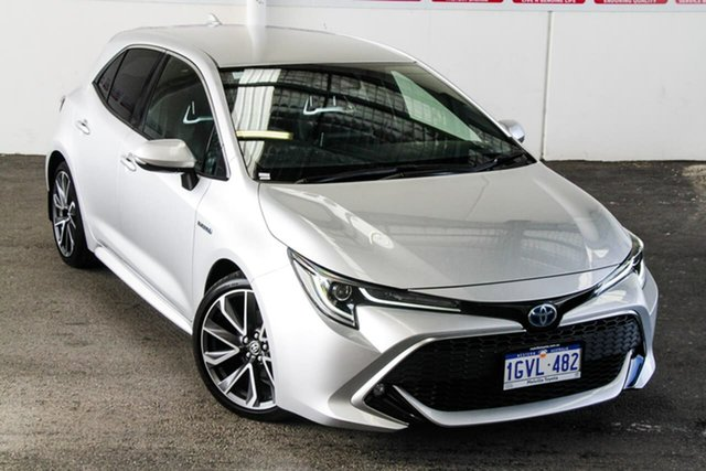 Pre-Owned Toyota Corolla ZWE211R ZR E-CVT Hybrid Myaree, 2019 Toyota Corolla ZWE211R ZR E-CVT Hybrid Silver Pearl 10 Speed Constant Variable Hatchback Hybrid