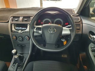 2011 Toyota Corolla ZRE152R MY11 Ascent Sport Silver 6 Speed Manual Sedan.