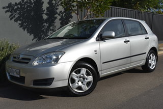 2005 Toyota Corolla ZZE122R 5Y Ascent Silver 5 Speed Manual Hatchback.