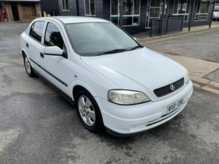 2003 Holden Astra TS MY03 CD White 4 Speed Automatic Sedan.