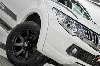 2015 Mitsubishi Triton MQ MY16 Exceed (4x4) White 5 Speed Automatic Dual Cab Utility.