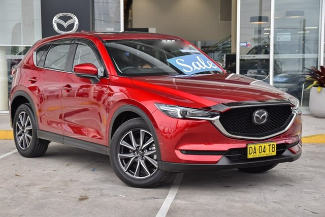 Used Mazda CX-5 KF4W2A GT SKYACTIV-Drive i-ACTIV AWD Kirrawee, 2021 Mazda CX-5 KF4W2A GT SKYACTIV-Drive i-ACTIV AWD Red 6 Speed Sports Automatic Wagon