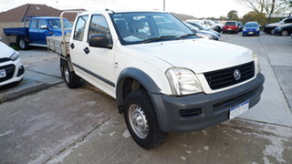 2006 Holden Rodeo RA MY06 LX Crew Cab 4x2 White 4 Speed Automatic Utility.