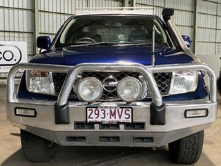 2009 Nissan Navara D40 ST-X King Cab Blue 5 Speed Automatic Cab Chassis