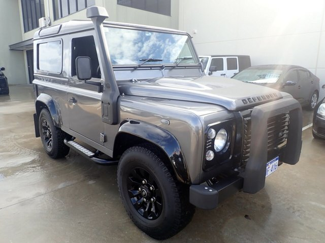 Used Land Rover Defender MY16 90 Wangara, 2015 Land Rover Defender MY16 90 Grey Matter with Black Roof 6 Speed Manual Wagon