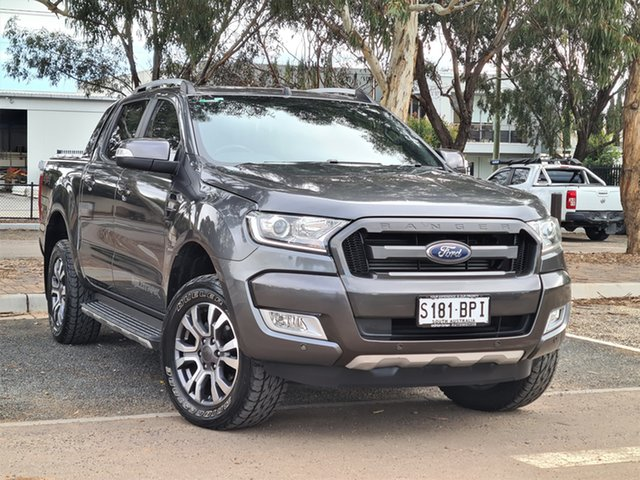 Used Ford Ranger PX MkII Wildtrak Double Cab St Marys, 2017 Ford Ranger PX MkII Wildtrak Double Cab Grey 6 Speed Sports Automatic Utility
