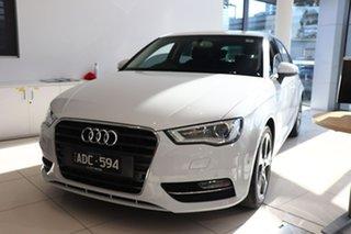 2014 Audi A3 8V Ambition Sportback S Tronic Glacier White 7 Speed Sports Automatic Dual Clutch.