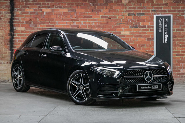 Certified Pre-Owned Mercedes-Benz A-Class W177 800+050MY A180 DCT Mulgrave, 2020 Mercedes-Benz A-Class W177 800+050MY A180 DCT Cosmos Black 7 Speed Sports Automatic Dual Clutch