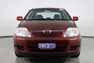 2005 Toyota Corolla ZZE122R Ascent Red 5 Speed Manual Sedan.