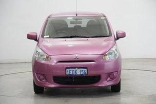 2014 Mitsubishi Mirage LA MY14 ES Pink 1 Speed Constant Variable Hatchback.