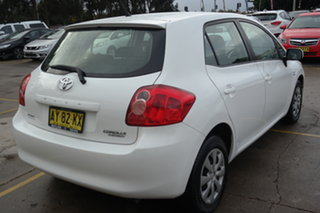 2008 Toyota Corolla ZRE152R Ascent White 4 Speed Automatic Hatchback