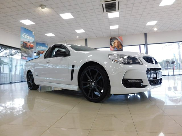 Pre-Owned Holden Ute VF II MY16 SV6 Ute Black Wonthaggi, 2016 Holden Ute VF II MY16 SV6 Ute Black White 6 Speed Sports Automatic Utility