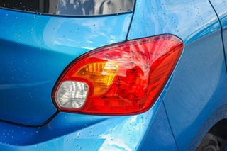 2021 Mitsubishi Mirage LB MY22 ES Cyber Blue 1 Speed Constant Variable Hatchback