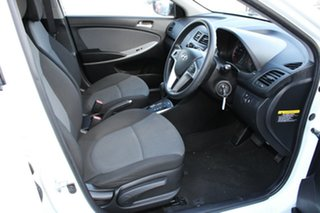 2013 Hyundai Accent RB Active White 4 Speed Sports Automatic Hatchback