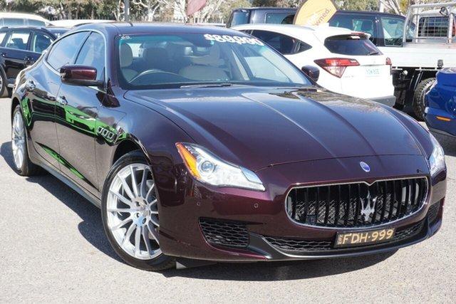 Used Maserati Quattroporte M156 MY16 Phillip, 2015 Maserati Quattroporte M156 MY16 Maroon 8 Speed Sports Automatic Sedan