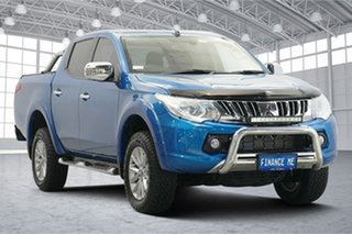 2015 Mitsubishi Triton MQ MY16 Exceed Double Cab Blue 5 Speed Sports Automatic Utility.