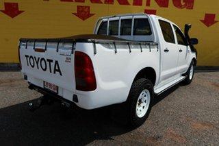 2011 Toyota Hilux KUN26R MY10 SR White 5 Speed Manual Dual Cab