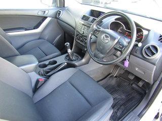 2017 Mazda BT-50 UR0YG1 XT Freestyle 4x2 Hi-Rider White 6 Speed Manual Cab Chassis
