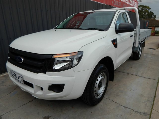 Used Ford Ranger PX XL Blair Athol, 2014 Ford Ranger PX XL White 6 Speed Manual Cab Chassis