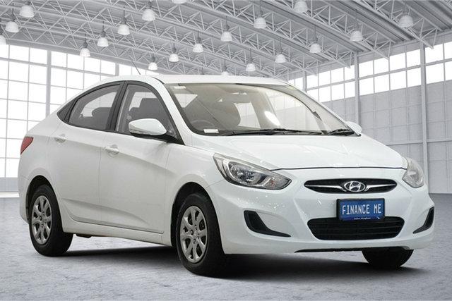Used Hyundai Accent RB2 Active Victoria Park, 2014 Hyundai Accent RB2 Active White 4 Speed Sports Automatic Sedan