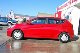 2015 Hyundai Accent RB3 MY16 Active Red 6 Speed CVT Auto Sequential Hatchback.
