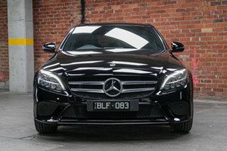2020 Mercedes-Benz C-Class W205 801MY C200 9G-Tronic Black 9 Speed Sports Automatic Sedan.