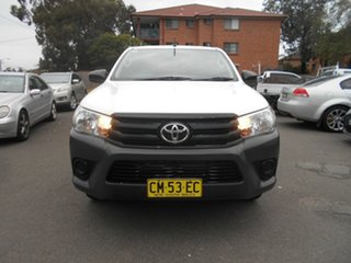 2017 Toyota Hilux TGN121R Workmate White 6 Speed Automatic Dual Cab Utility