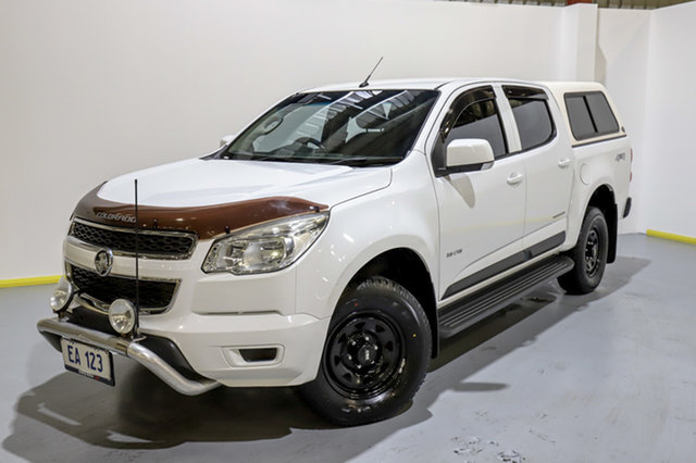 Used Holden Colorado RG MY14 LX Crew Cab Canning Vale, 2013 Holden Colorado RG MY14 LX Crew Cab White 6 Speed Manual Utility