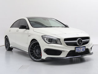 2015 Mercedes-Benz CLA45 117 MY15 AMG White 7 Speed Automatic Coupe.