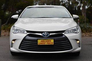 2017 Toyota Camry AVV50R Altise White 1 Speed Constant Variable Sedan Hybrid.